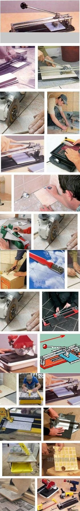 How quickly independently to learn to cut a tiled, ceramic tile or a tile from porcelain tile in house conditions. The tool and materials for independent cutting of a ceramic tile - Repair and design of the house the hands