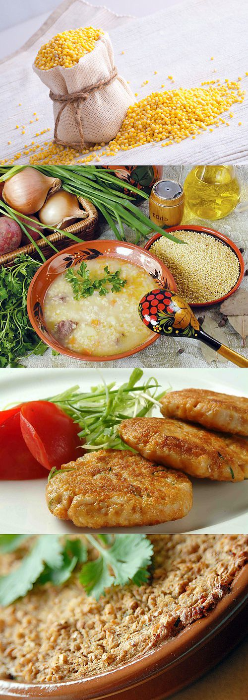What can be prepared from millet? \/ Simple recipes