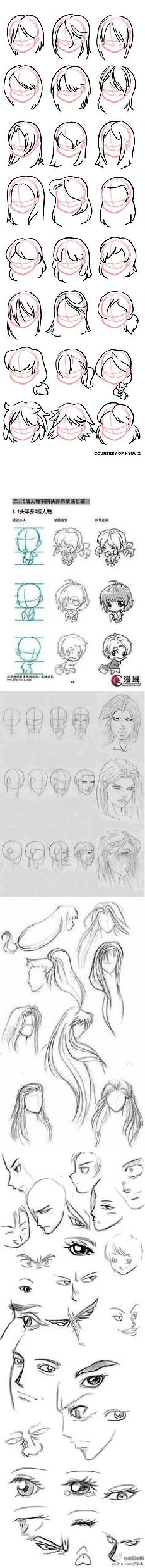 How to draw Hairstyles | aprendemos a dibujar