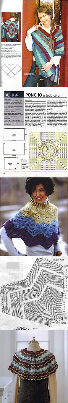 We knit a hook of a poncho and a pelerine